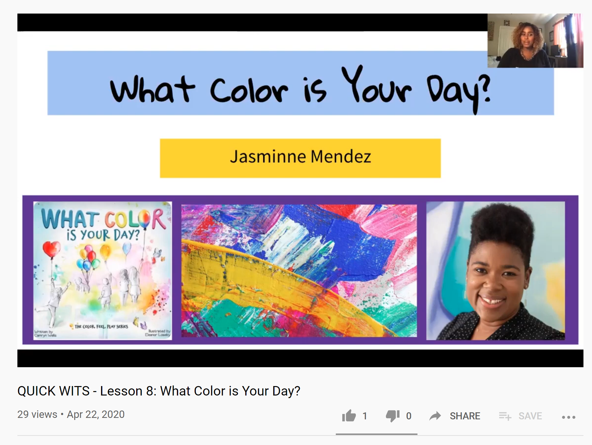 _1 QUICK WITS - Lesson 8 What Color is Your Day - YouTube
